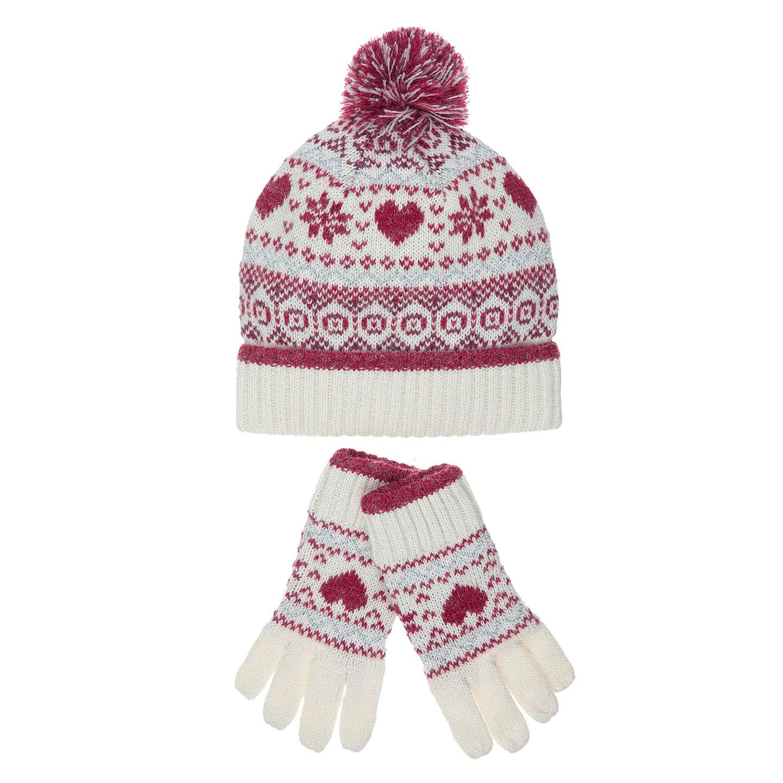 Buyjohn Lewis Childrens Christmas Fair Isle Hat & Glove Set,