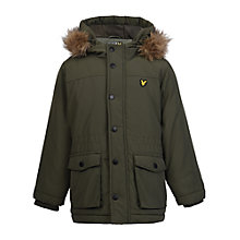 Buy Lyle & Scott Boys' Micro Fleece Lined Jacket, Olive Green Online at johnlewis.com