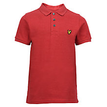 Buy Lyle & Scott Boys' Classic Polo Shirt, Pomegranate Online at johnlewis.com
