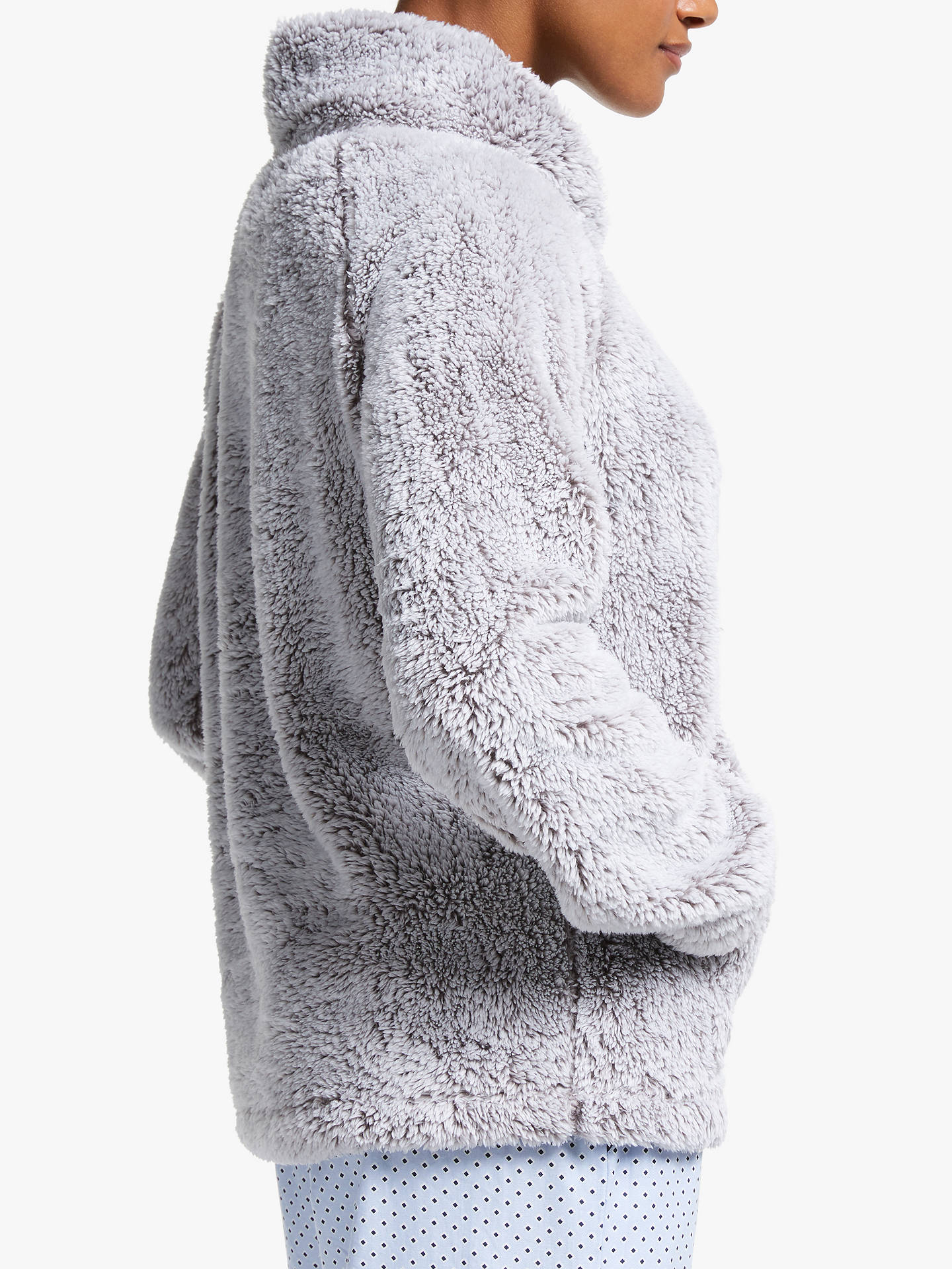 BuyJohn Lewis & Partners Hi-Pile Fleece Snuggle Top, Grey, S Online at johnlewis.com
