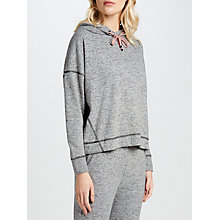 Buy John Lewis Marl Hoodie Lounge Top, Charcoal/Pink Online at johnlewis.com