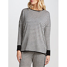 Buy John Lewis Lightweight Stripe Lounge Top, Grey/Ivory Online at johnlewis.com