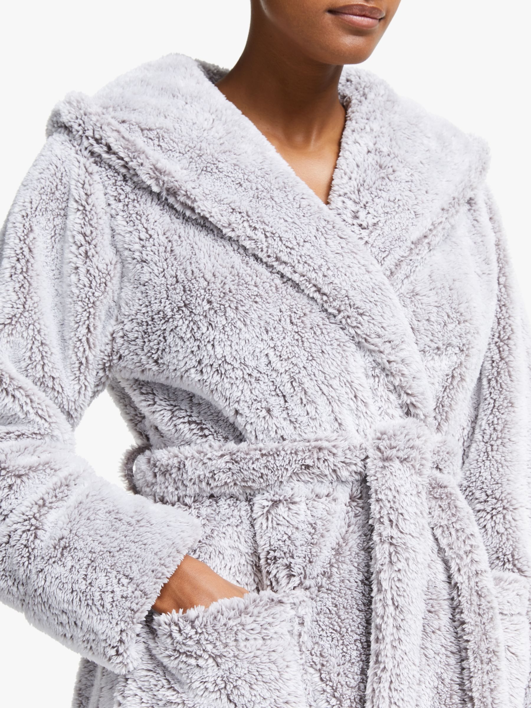 John Lewis & Partners Hi Pile Fleece Robe