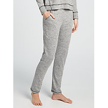 Buy John Lewis Contrast Waist Jogger Lounge Bottoms, Charcoal/Pink Online at johnlewis.com
