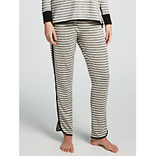 Buy John Lewis Lightweight Stripe Lounge Bottoms, Charcoal/Ivory Online at johnlewis.com