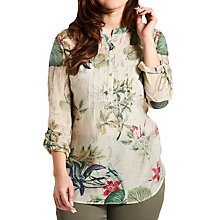 Buy Celuu Isla Floral Blouse, Green Online at johnlewis.com