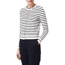 Buy L.K. Bennett Jay Stripe Cardigan, Blue/White Online at johnlewis.com