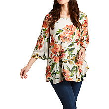 Buy Celuu Sheena Floral Blouse, Orange Online at johnlewis.com