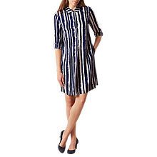 Buy Hobbs Marcella Tunic Dress, Blueberry/Ivory Online at johnlewis.com