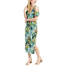 Buy Oasis Penang Print Cold Shoulder Dress, Multi/Blue Online at johnlewis.com