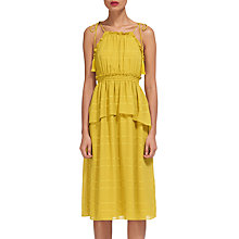 Buy Whistles Textured Ruffle Dress, Yellow Online at johnlewis.com