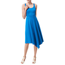 Buy L.K. Bennett Livi Jersey Fit And Flare Dress, Andaman Blue Online at johnlewis.com