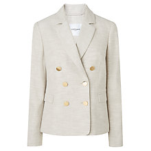 Buy L.K. Bennett Nixie Linen Jacket, Grey Online at johnlewis.com