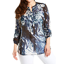 Buy Celuu Isla Abstract Blouse, Navy Online at johnlewis.com