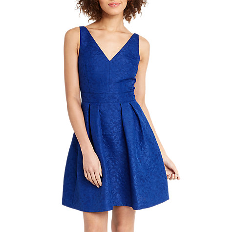 Buy Oasis Jacquard Skater Dress, Cobalt Blue Online at johnlewis.com