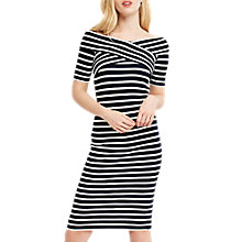 Buy Oasis Bardot Wrap Stripe Dress, Multi Online at johnlewis.com