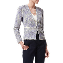 Buy L.K. Bennett Rafia Tweed Jacket, Blue/Multi Online at johnlewis.com
