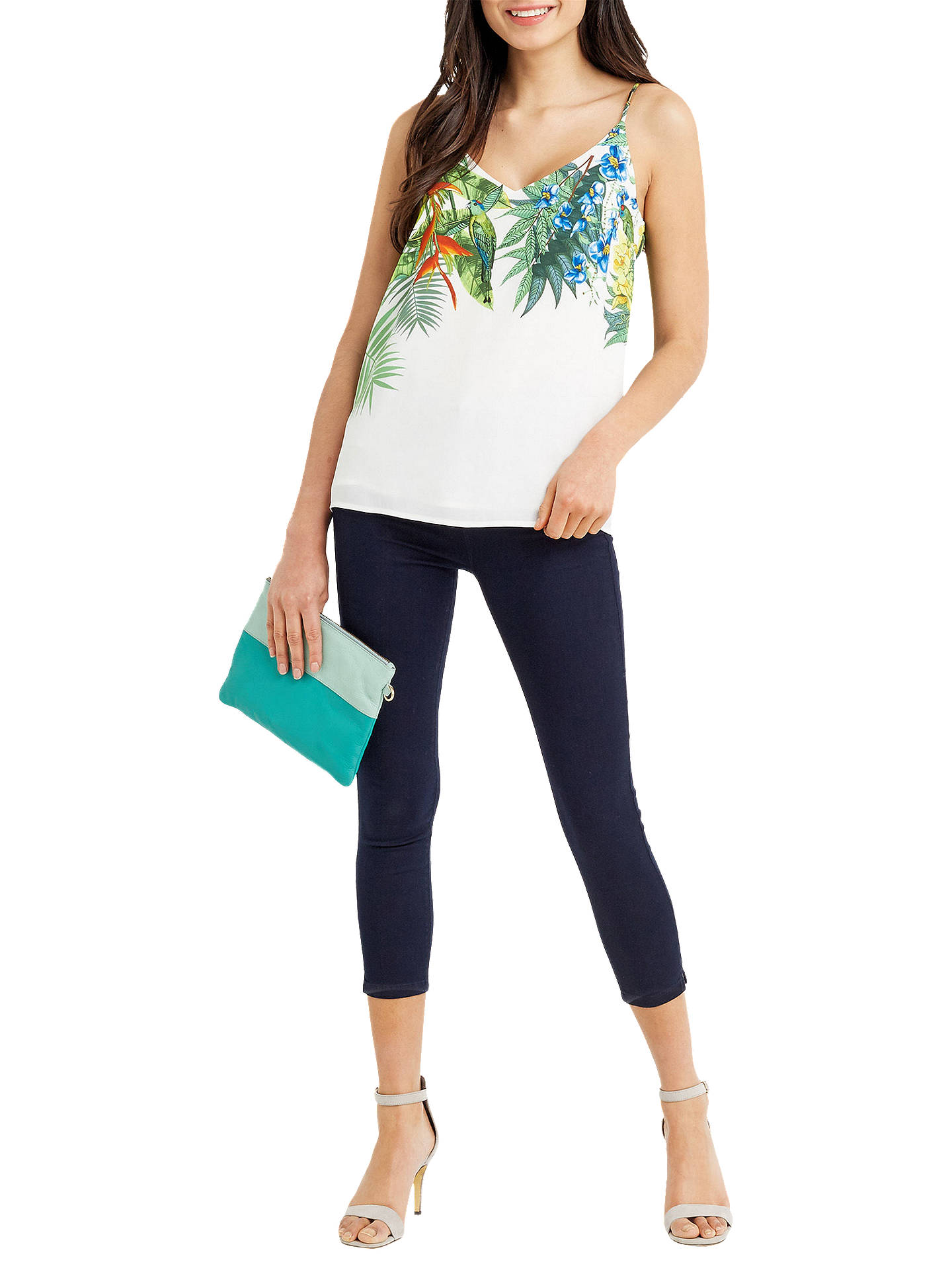 BuyOasis Tropical Placement Cami, Multi / Natural, Multi/Natural, 8 Online at johnlewis.com