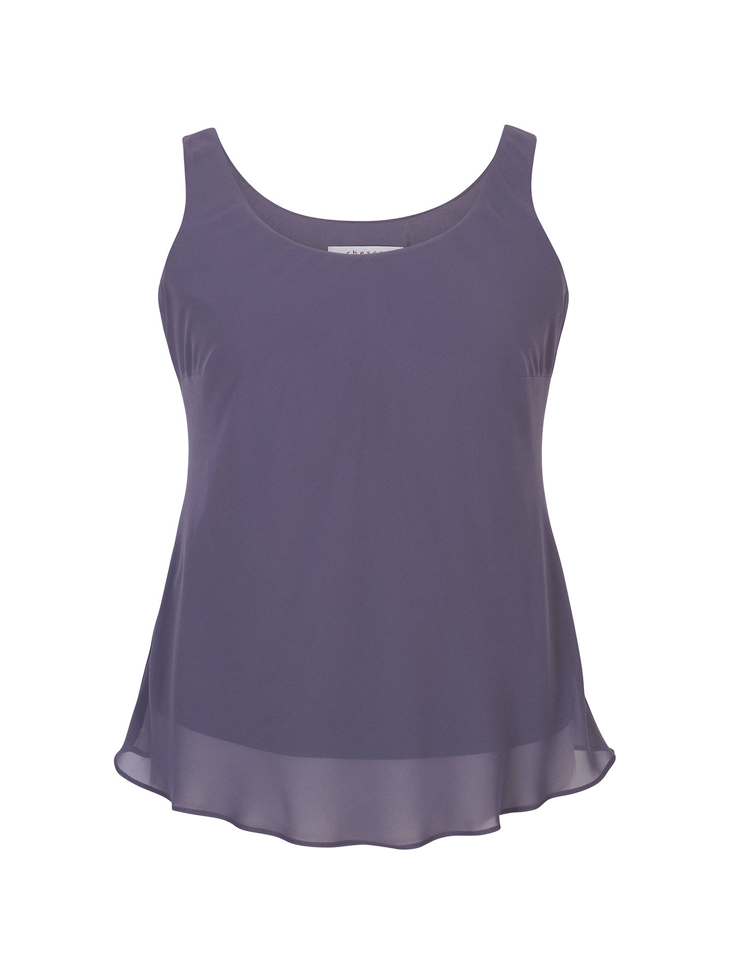 BuyChesca Chiffon Camisole, Hyacinth, 16 Online at johnlewis.com