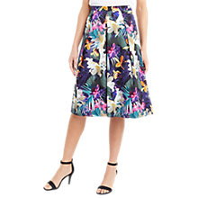Buy Oasis Tropical Print Midi Skirt, Multi / Blue Online at johnlewis.com