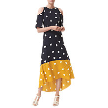 Buy L.K. Bennett Leia Spot Print Silk Dress, Navy/Multi Online at johnlewis.com