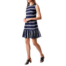Buy Hobbs Casey Stripe Shift Dress, Navy/White Online at johnlewis.com