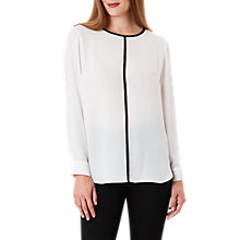Buy Celuu Tyra Pleat Back Blouse, Ivory Online at johnlewis.com