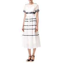 Buy L.K. Bennett Tarley Embroidered Dress, Cream Online at johnlewis.com