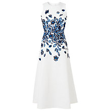 Buy L.K. Bennett Corin Embroidered Dress, Andaman Blue Online at johnlewis.com