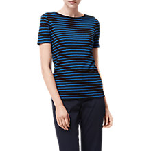 Buy L.K. Bennett Aloha Stripe Linen T-Shirt, Navy Online at johnlewis.com