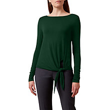 Buy Hobbs Lois Knot Tie Top, Pine Green Online at johnlewis.com