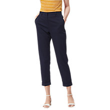 Buy L.K. Bennett Aurelia Slim Leg Cropped Trousers, Sloane Blue Online at johnlewis.com