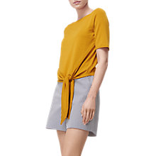 Buy L.K. Bennett Karlie Tie Detail Top, Ochre Online at johnlewis.com