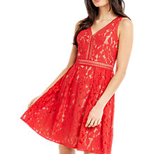 Buy Oasis Lace V-Neck Skater Dress Online at johnlewis.com