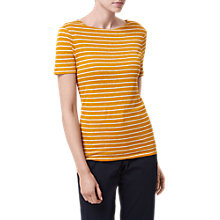 Buy L.K. Bennett Aloha Stripe Linen T-Shirt Online at johnlewis.com