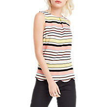 Buy Oasis Stripe Scallop Shell Top, Multi Online at johnlewis.com