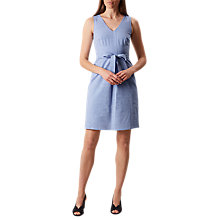 Buy Hobbs Alison Stripe Shift Dress, White/Blue Online at johnlewis.com