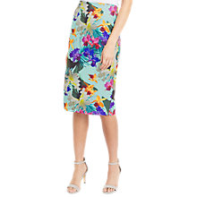 Buy Oasis Tropical Pencil Skirt, Multi Green Online at johnlewis.com