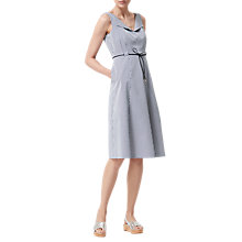 Buy L.K. Bennett Alana Seersucker Dress, Navy Online at johnlewis.com