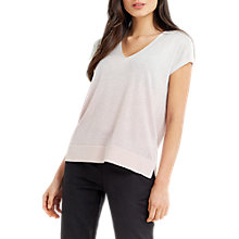 Buy Oasis Ombre Sparkle T-Shirt, Pale Pink Online at johnlewis.com