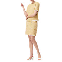 Buy L.K. Bennett Rafia Tweed Top, Ochre Online at johnlewis.com