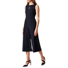 Buy Hobbs Vita Pleated Jumpsuit, Navy Online at johnlewis.com