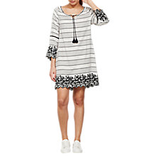 Buy Mint Velvet Stripe Embroidered Dress, Multi Online at johnlewis.com