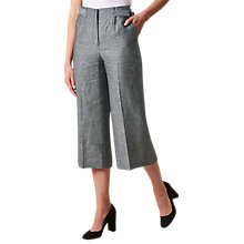 Buy Hobbs Juliet Culottes, Navy/Ivory Online at johnlewis.com