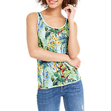 Buy Oasis Tropical Print Vest, Multi Online at johnlewis.com