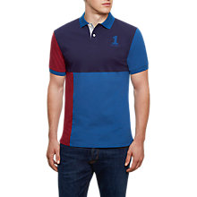 Buy Hackett London Quad Number Polo Shirt, Burgundy Online at johnlewis.com