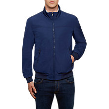 Buy Hackett London Nylon Blouson Jacket, Blue Online at johnlewis.com