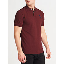 Buy Hackett London New Classic Number Polo Shirt, Burgundy Online at johnlewis.com