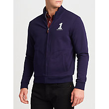 Buy Hackett London French Terry Full Zip Sweatshirt, Navy Online at johnlewis.com