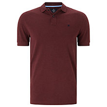 Buy Hackett London Classic Logo Short Sleeve Polo Shirt, Burgundy Online at johnlewis.com